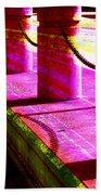 Pillars And Chains - Color Rays Bath Towel