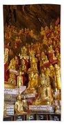 Pindaya Cave With More Than 8000 Buddha Statues Myanmar Bath Towel
