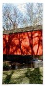 Pine Valley Covered Bridge In Bucks County Pa Bath Towel