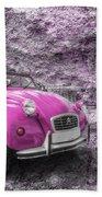 Pink 2cv  Bath Towel