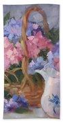 Pink And Blue Hydrangeas Bath Towel