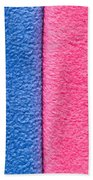 Pink And Blue Bath Towel