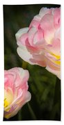 Pink And White Flowers Bath Towel