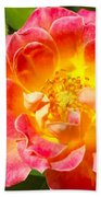 Pink And Yellow Rose Bath Towel