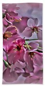 Pink Blossoms - Paint Bath Towel