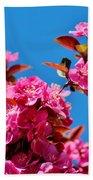 Pink Blossoms Blue Sky 031015a Bath Towel