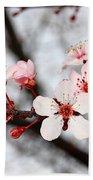 Pink Blossoms Bath Towel