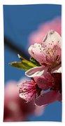Pink Cherry Tree Blossom Bath Towel