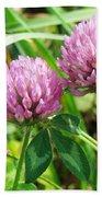 Pink Clover Wildflower - Trifolium Pratense Bath Towel