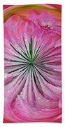 Pink Dahlia Orb Bath Towel