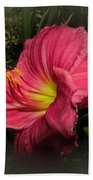 Pink Day Lily Bath Towel
