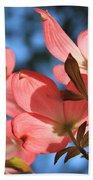 Transparent Glory Pink Dogwood Easter Flower Art Bath Towel