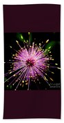 Pink Fireworks  Bath Towel