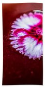 Pink Flower In Red Wine Cocktail Bath Towel