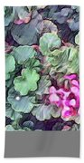 Pink Flowers Painting Hand Towel