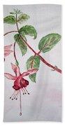 Pink Fuchsia's  Bath Towel