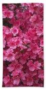 Pink Full Frame Azalea Blossoms Bath Towel