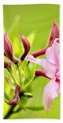Pink Honeysuckle Flowers Bath Towel