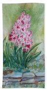 Pink Hyacint Bath Towel