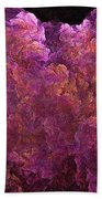 Pink Hydrangea Fractal Blossoms Bath Towel