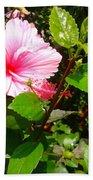 Pink Java Flower  Bath Towel