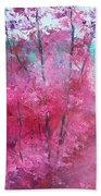 Pink Landscape Bath Towel