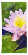 Pink Lotus At Waikoloa Bath Towel