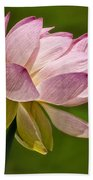 Pink Lotus Bath Towel