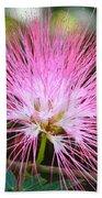 Pink Mimosa Flower Bath Towel
