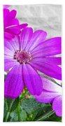 Pink Perciallis Ragwort Flower Art Prints Bath Towel