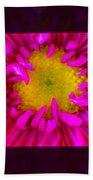 Pink Petals Envelop A Yellow Center An Abstract Flower Painting Bath Towel