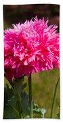 Pink Poppy Bath Towel