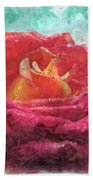 Pink Rose - Digital Paint II Bath Towel