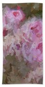 Pink Rose Abstract Bath Towel