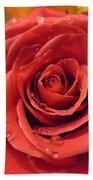 Pink Rose Drops Bath Towel