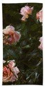 Flowers - Pink Roses Bath Towel