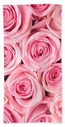 Pink Roses Bath Towel