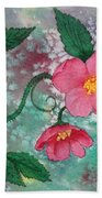 Pink Roses Bath Towel