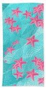 Pink Starfish Bath Towel