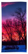 Pink Sunrise Bath Towel