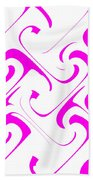 Pink Swirls Bath Towel