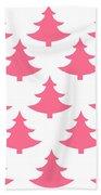 Pink Trees Bath Towel