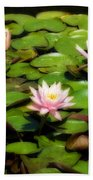 Pink Water Lilies Soft Focus Bath Towel