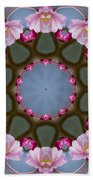 Pink Weeping Cherry Blossom Kaleidoscope Bath Towel