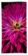 Pink Zinnia Digital Wave Bath Towel