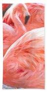 Pinked Flamingos Bath Towel