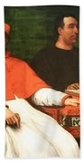 Piombo's Cardinal Bandinello Sauli And His Secretary And Two Geographers Bath Towel