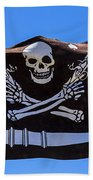 Pirate Flag With Skull And Pistols Bath Towel