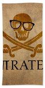 Pirate Math Nerd Humor Poster Art Bath Towel