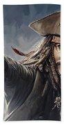 Pirates Of The Caribbean Johnny Depp Artwork 2 Bath Towel